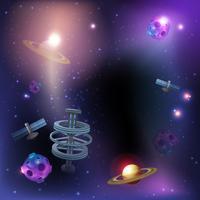 Fundo escuro de espaço vetor