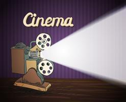 Projetor de cinema Doodle vetor