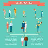 Conceito de árvore genealógica vetor