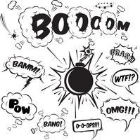 Coleção de elementos de design de bolhas de discurso em quadrinhos