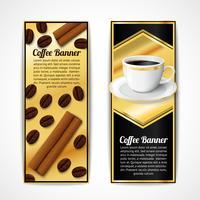 Banners de café verticais