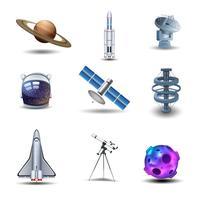 Conjunto de ícones de espaço vetor