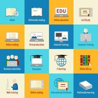 Ícone de educação on-line vetor