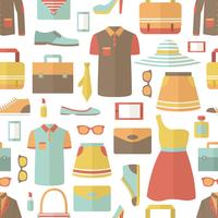 Compras sem costura padrão vetor