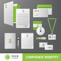Modelo de identidade corporativa vetor