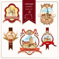 Emblemas da cidade coloridos