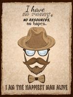 Impressão de cartaz hipster mão desenhada