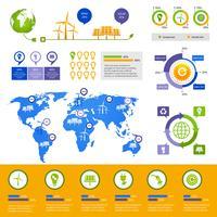 Modelo de infográfico de energia