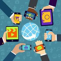 Usando serviços móveis