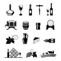 Conjunto de ícones de vinho