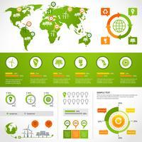 Modelo de layout de infográficos de energia
