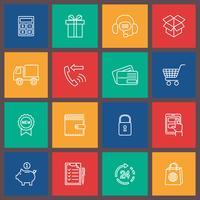 Ícone de comércio eletrônico de compras