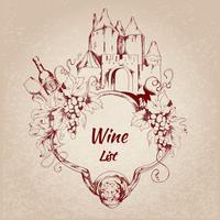 Rótulo de lista de vinhos