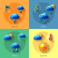 Seasons tempo definido vetor
