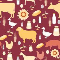 Padrão sem emenda de agricultura