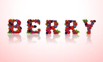 Emblema da palavra Berry vetor