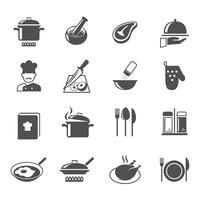 Conjunto de ícones de cozinha