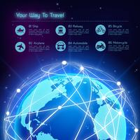 Fundo de viagens de rede