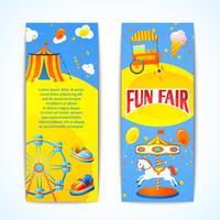 Banners de carnaval verticais