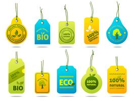 Etiquetas de cartão de ecologia vetor