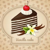 Cartaz de bolo em camadas de baunilha