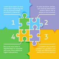 Fundo de infográfico de quebra-cabeça