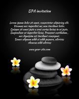 Cartão de convite de spa