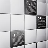 Elementos de design abstrato cubos infográfico