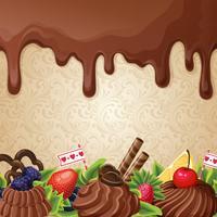 Fundo de doces de chocolate