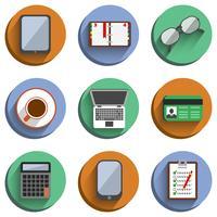 conjunto de negócios no local de trabalho ícones