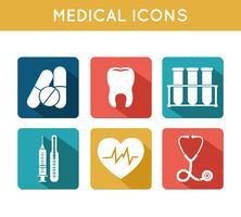 Conjunto de ícones médicos de cuidados de saúde