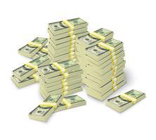Dinheiro empilha conceito de pilha de notas
