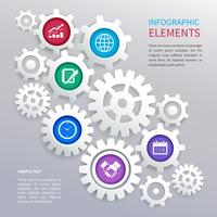 Modelo de infográficos de engrenagens