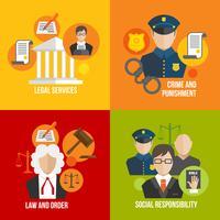 Ícones lisos lei