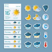 Conjunto de Widgets de Papel Meteorológico