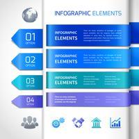 Abstratos, infographics, projete elementos