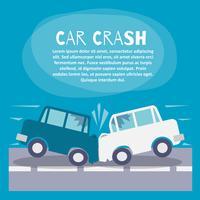 Cartaz de acidente de carro vetor