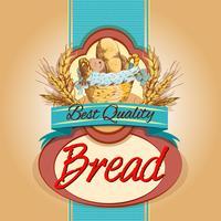 Etiqueta do pacote de pão vetor