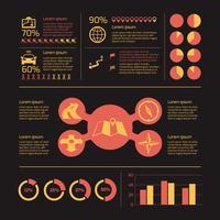 Ícones de navegação infográfico vetor