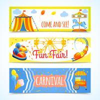 Banners de carnaval horizontais