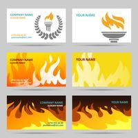Cartão de visita fogo