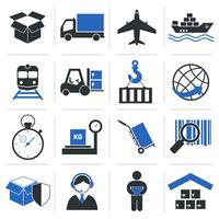 Ícones de serviço logístico