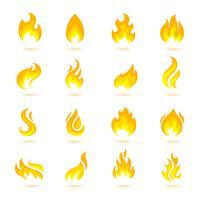 Ícones de chamas de fogo