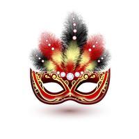 Emblema de máscara de carnaval veneziano vetor