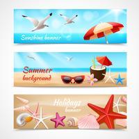 Rótulos de férias de verão vetor