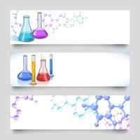 Banners de laboratório químico
