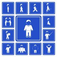 Conjunto de ícones de atividades de homem de negócios
