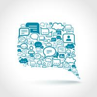 Bate-papo comunicação conceito vetor