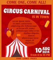 Cartaz de propaganda de circo vetor