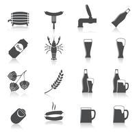 Conjunto de ícones de cerveja de álcool